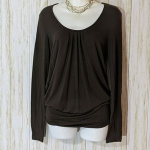 Banana republic stretch top brown size M